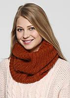 Снуд женский ZARA цвет рыжий размер М арт 1323/201/670