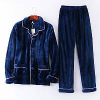 b69cff2cd62f7 Мужская фланелевая пижама. Мужские осенние зимние фланелевые теплые  карманные пижамы Костюмы Пижамы - 1TopShop