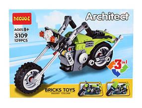 Конструктор Decool 3109 Креатор Байк Круизер 3в1 (аналог Lego Creator 31018)