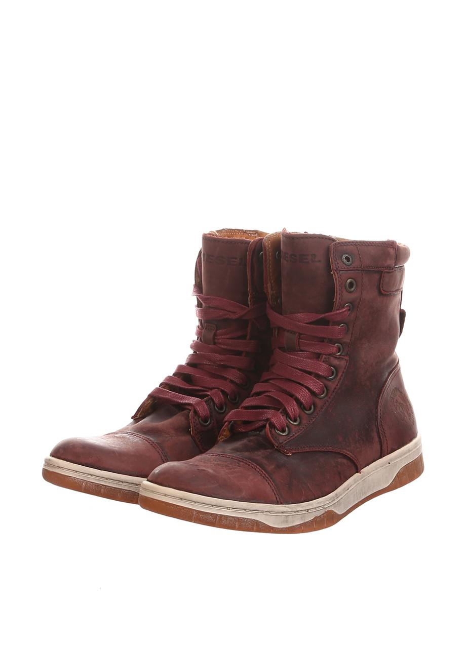 Ботинки мужские Diesel цвет бордовый размер 40 арт Y01040P0715T5015