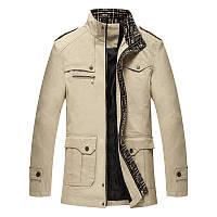 27a48dd0ef7 Мужская стойка Воротник Хлопок Бизнес Мода Повседневная Осень Куртка Пальто  1TopShop