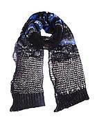 Шарф унисекс DIESEL цвет черно-синий размер Универсальный арт 00STQ40AALP900