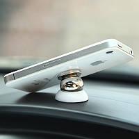 ATTRACT, YIKE - магнитный держатель для телефона в автомобиль. Автодержатель. Черный/Белый