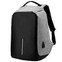 Рюкзак Bobby антивор для ноутбука Портфель городской СЕРЫЙ D1021