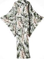 Женское платье-кимоно тропической расцветки