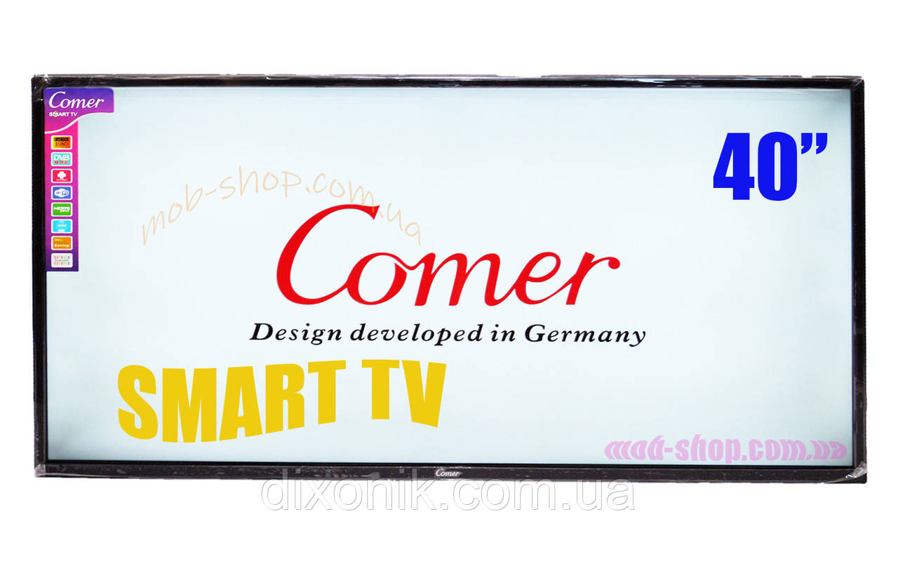 """LCD LED Телевизор Comer 40"""" Smart TV+WiFi+T2, HDMI, Android 4.4"""