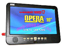 "Портативный телевизор Opera NS-1002 TV 10"" USB T2"