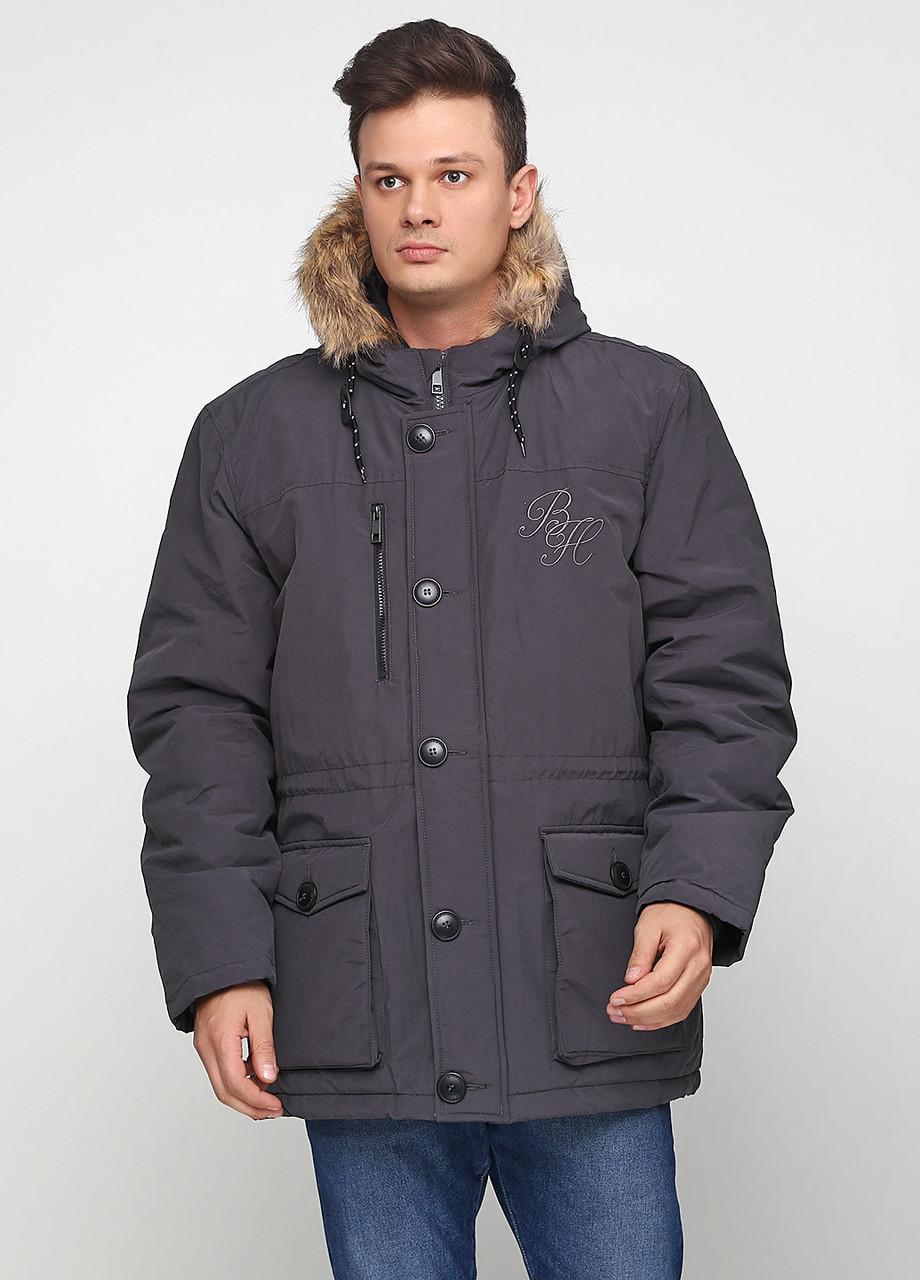 Парка мужская Мужская одежда цвет серый размер XXL арт 01112018