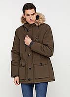 Парка мужская Мужская одежда цвет хаки размер L XL арт 01112018, фото 1