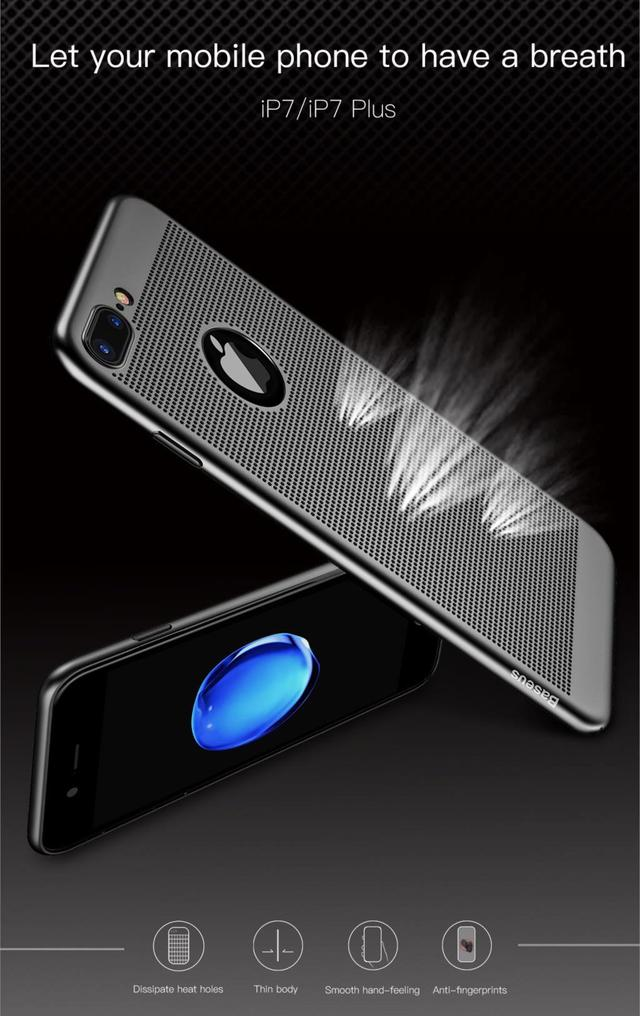 Baseus Breath Case Чехол для iPhone 7 Rose Gold