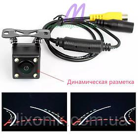 Камера заднего вида 101 с динамической разметкой и подсветкой (камера кубик с парковочными линиями подсветкой)