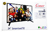 "Телевизор Comer LED 24"" Smart TV+WiFi+T2, Android 4.4+HDMI, фото 8"