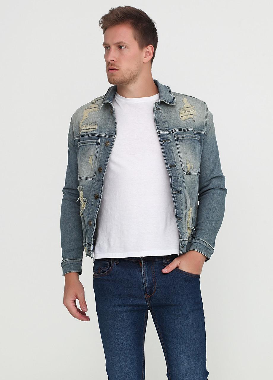 5b81fbf2b Куртка мужская TOMMY HILFIGER цвет джинсовый размер М арт DM0DM03903911 - Интернет  магазин брендовой одежды и