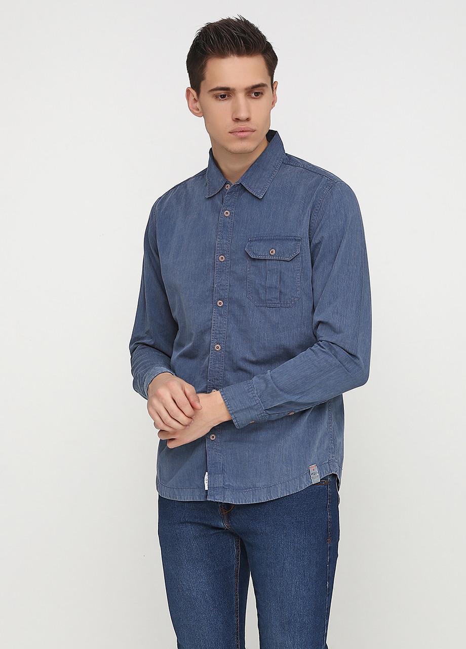 Рубашка мужская M.O.D цвет темно-синий размер M арт SP18-L0306
