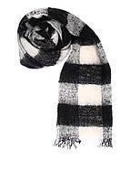 Шарф унисекс Maison Scotch цвет черный-белый размер OS арт 134221-16-FWLM-K70