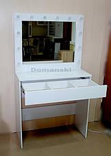 Стол визажиста. Гримёрное зеркало. Рабочее место бровиста визажиста., фото 3