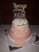 Эксклюзивный топер двухярусный свадебный торт. Топпер для торта. , фото 1