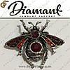 "Брошка Хрустальный жук - ""Crystal Beetle"" + подарочная упаковка"