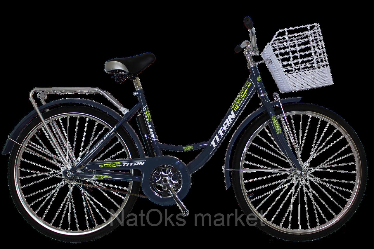 "Велосипед Titan Lux 26"" (Gray-Lightgreen)"