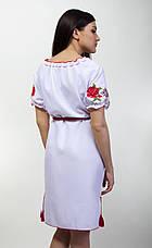 Платье вышитое короткий рукав в украинском стиле, фото 3