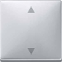 Кнопка выключателя для системы жалюзи, алюминий Shneider Merten (MTN584260)