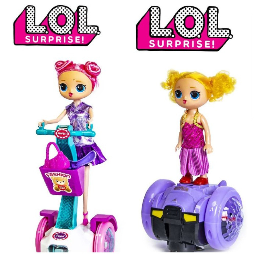 Кукла ЛоЛ на гироскутере