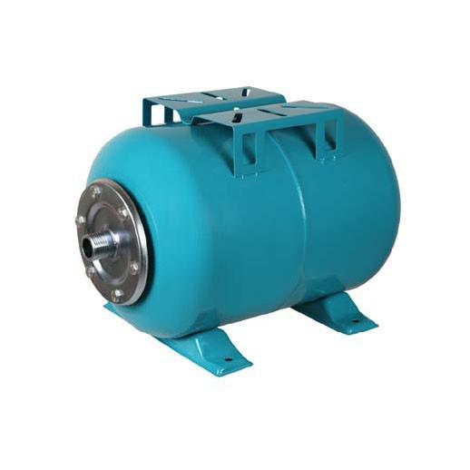 Гидроаккумулятор  Металлический на 100 литров с Манометром, Горизонтальный