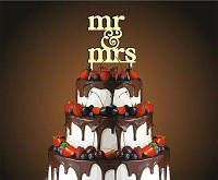 "Топпер в свадебный торт. Верхушка. ""Mr-Mrs"", фото 1"
