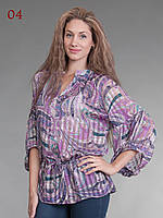 Блузка восточный стиль сиреневая