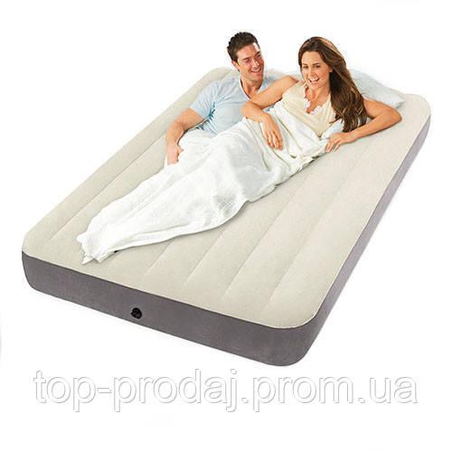 64708 Матрас велюровый 191*137*25см, Надувной одномесный матрас, Надувная кровать для сна
