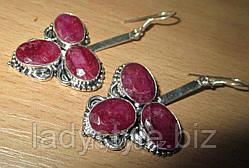 Акция- подарок - серьги с рубинами при покупке на 5000 грн. с  15 августа по 15 сентября от  LadyStyle.Biz