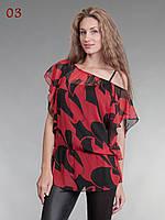 Блузка двойка красно-черный, фото 1
