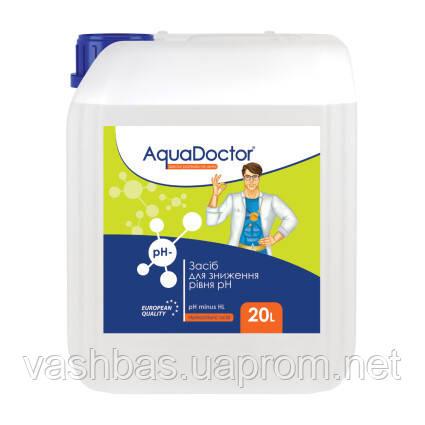 Жидкое средство для снижения pH Minus HL (Соляная14%) 20 л. Химия для бассейна AquaDoctor