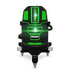 WOSAI 5 линий 6 точек ✅ ЗЕЛЕНЫЙ ЛУЧ ➜ до 50м ✅ лазерный уровень нивелир WS-X5 ➕ ПОЛНАЯ КОМПЛЕКТАЦИЯ, фото 10