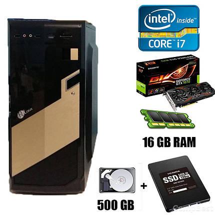 Aerocool Tower / Intel Core i7-2600 (4(8) ядер по 3.4-3.8GHz) / 16 GB DDR3 / 120 GB SSD + 500 GB HDD / nVidia GeForce GTX 1070 8 GB GDDR5 256-bit / БП, фото 2