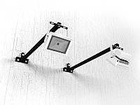 Кронштейн для прожектора + прожектор 10Вт (крепеж к стене) (Длина: 1000мм;  Цвет: Белый;)
