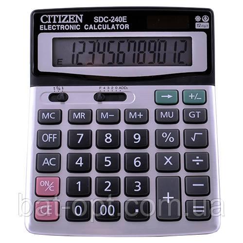 Калькулятор настольный Citizen 240 12-разрядный (192х147х42мм)