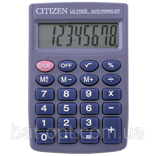 Калькулятор карманный CITIZEN 110, 8-ми разрядный