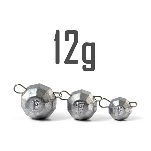 """Груз """"Гранёный"""" 12 гр. Свинцовый (5 шт.) Fanatik"""