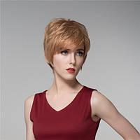 Леди короткой стороне прохладно прямые человеческие волосы парик Remy девственницы моно топ монолитным взрыва женщин 14 цветов - 1TopShop