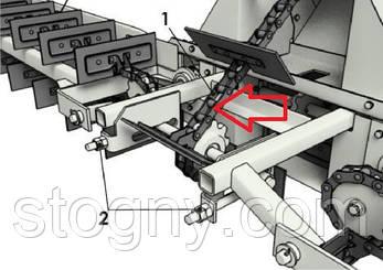 Транспортер скребковый 8.4 м  ЗМ 60 цент.загруз, фото 2