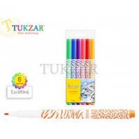 TZ 959-6 Фломастеры детские цветные 6цв TUKZAR