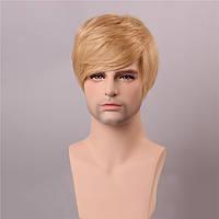 Блондинка мужчин короткие моно топ парик человеческих волос мужедеве Remy монолитным сторона взрыва - 1TopShop