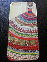 Силиконовый чехол c дев.в платье для Iphone 5/5S
