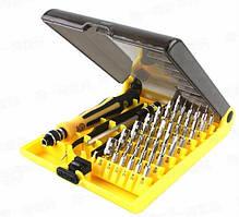 Набор отвёрток с 42-мя битами и пинцетом JK-6089A, эргономичная ручка с резиновыми вставками