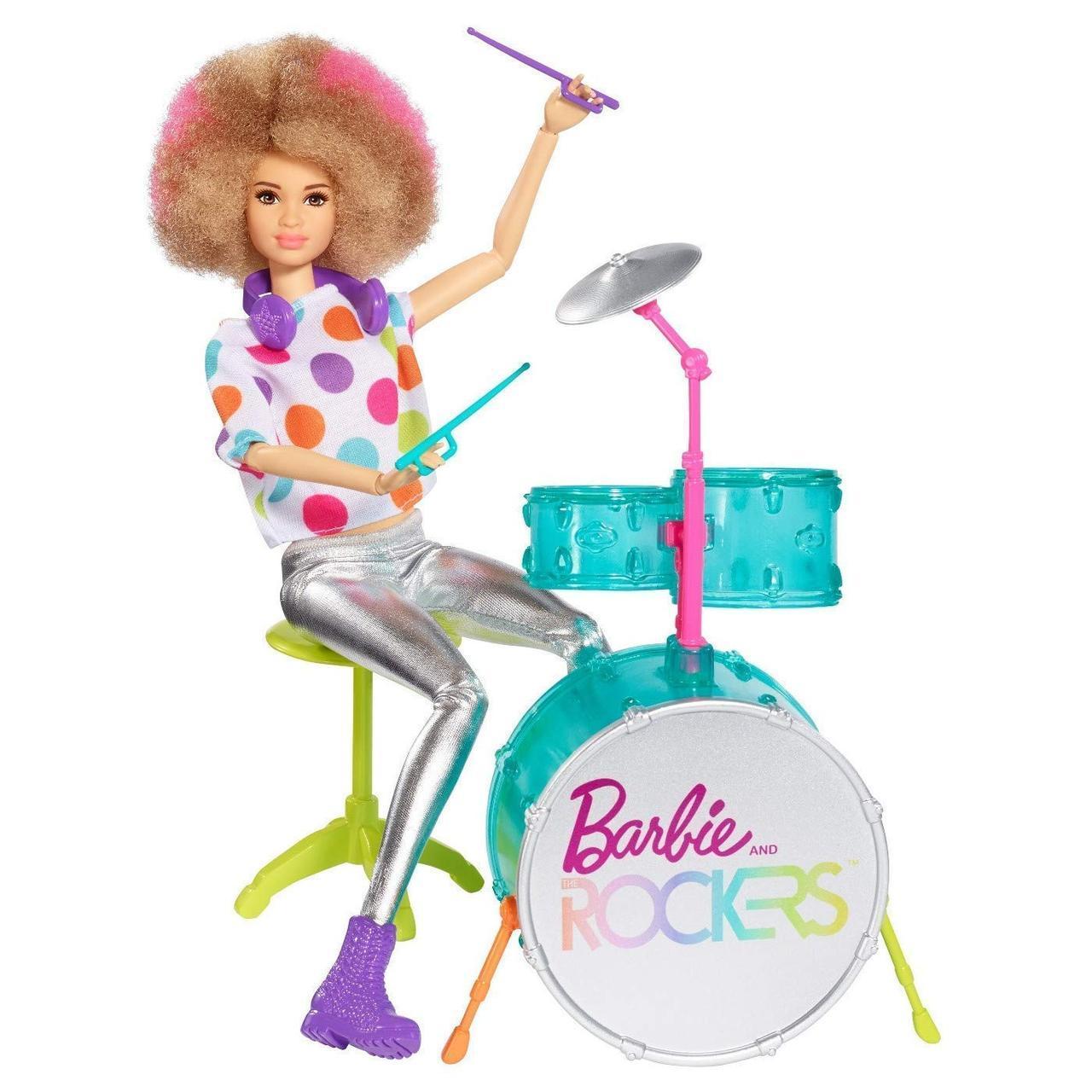 Кукла шарнирная Барби барабанщик рокеры Barbie