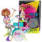 Кукла шарнирная Барби барабанщик рокеры Barbie, фото 4