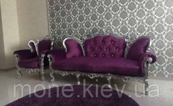 "Комплект в стиле барокко ""Изабелла"" диван и кресло."