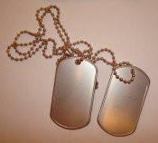 Комплект жетоны армейские на цепочке с резинками