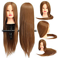 Коричневый 18 дюймов Длинный прямой Волосы Тренировочная модель Манекен-практика Головной салон - 1TopShop